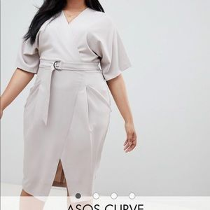Asos curve midi work dress